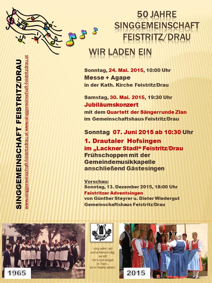 50 Jahre Singgemeinschaft Feistritz_Gmdezeitung